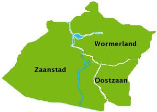 kaartje zaanstad wormerland oostzaan